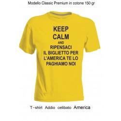 """magliette Addio Celibato """" AMERICA """""""