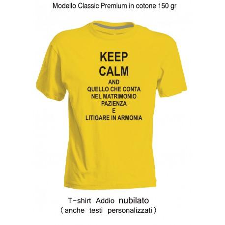 """Magliette Addio Nubilato """" Pazienza """" personalizzate"""