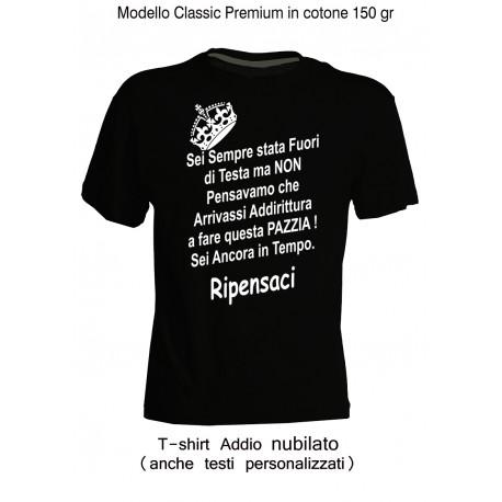"""Magliette Addio Nubilato """" Fuori """" personalizzate"""