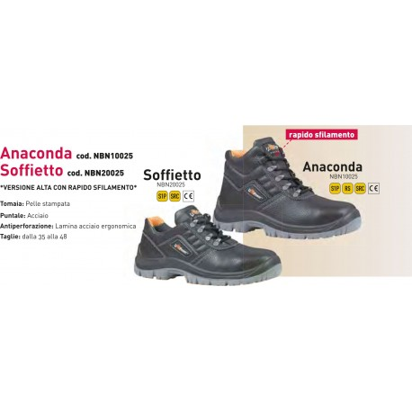Scarpa Antinfortunistica U POWER Anaconda & Soffietto