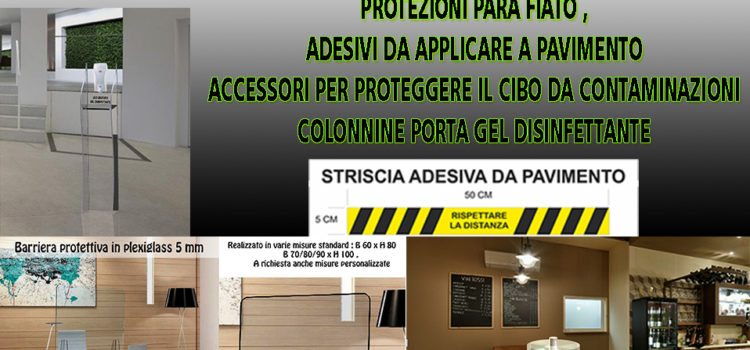 Barriere e accessori anti contagio covid19